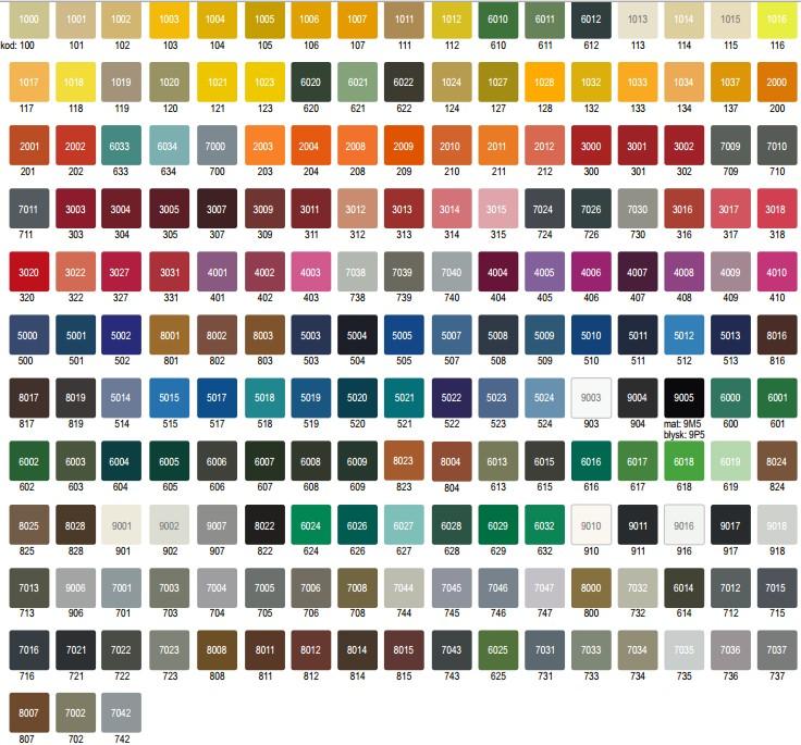 terma paleta kolorów