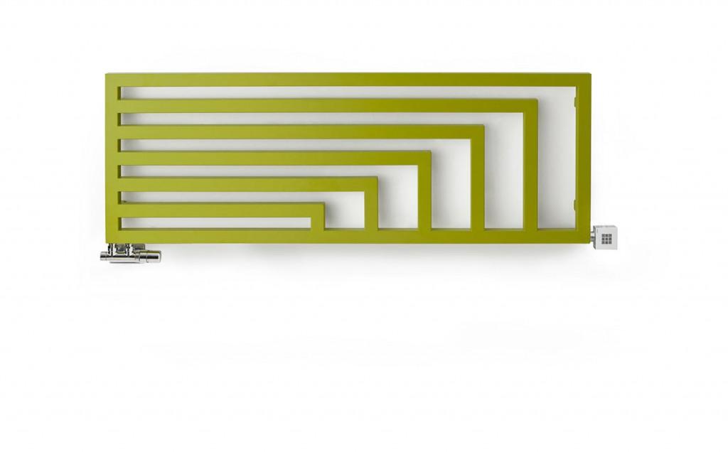 Grzejnik Angus w wersji poziomej - kolor Soft Green Apple