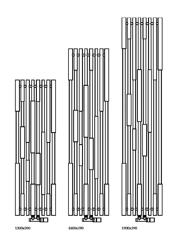 Grzejnik Cane - dostępne rozmiary